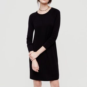 Lou & Grey Black Signaturesoft Sweatshirt Dress